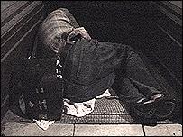 A man sleeping rough