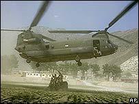 """Амриканский вертолет """"Чинук"""" в Афганистане"""