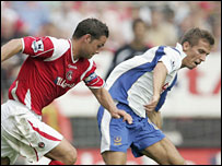 Charlton's Luke Young and Portsmouth's Gary O'Neil