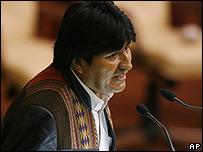 Evo Morales en la Cumbre de los Países No Alineados