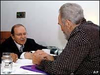 Algerian President Abdelaziz Bouteflika and Fidel Castro