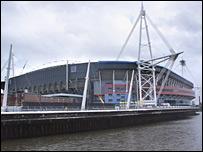 The Millennium Stadium in Cardiff can hold 75,000 spectators