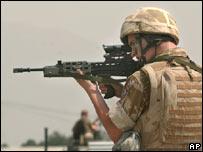 British member of Nato-led force near Kabul