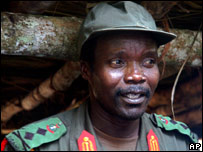 Ugandan rebel leader Joseph Kony (file image)