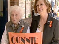 Connie's grandmother Dorothy Pare and mother Jan Fisher