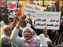 Protests against UN forces in Sudan