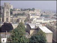 Elevated view of Bristol