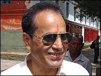 Arun Subedi, chairman of Shiv Sena Nepal