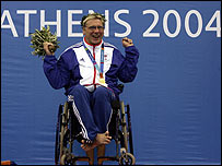 Jim Anderson won four swimming golds in Athens