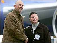 US captain Tom Lehman and his European counterpart Ian Woosnam