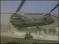 Helicóptero en acción.