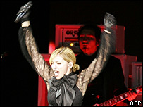 Madonna on stage