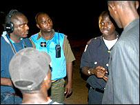 Police patrol in Monrovia