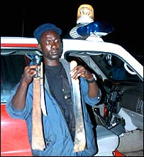 Machetes retrieved by a police patrol, Liberia