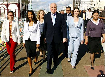 Sir Menzies Campbell and young Lib Dem women