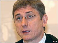 File photo of Hungarian Prime Minister Ferenc Gyurcsany, 2005