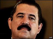 El presidente de Honduras, Manuel Zelaya