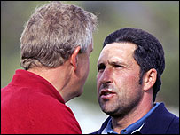 Colin Montgomerie (l) and Jose Maria Olazabal
