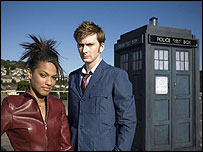 David Tennant and Freema Agyeman in Doctor Who