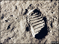 Apollo 11 bootprint (Nasa)