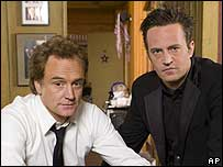 Bradley Whitford and Matthew Perry in Studio 60 on the Sunset Strip