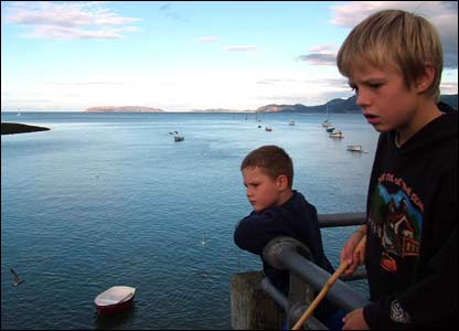 Marc Rees Jones sent in this shot of nephews William and Luke on a serious quest for crabs off Beaumaris pier.
