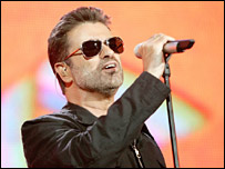George Michael on stage at Live 8