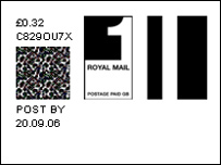 How the new stamps look on Royal Mail website