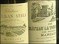 Margaux wine labels