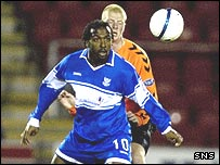 Jason Scotland was on target for St Johnstone