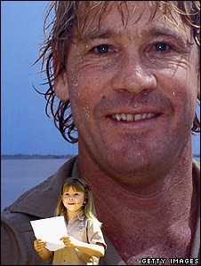 Bindi Irwin reads a eulogy