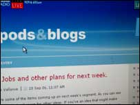 Blogs screenshot