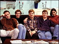 The original cast of the BBC programme This Life
