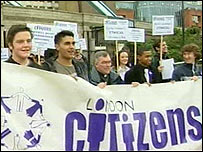 London Citizens protesters