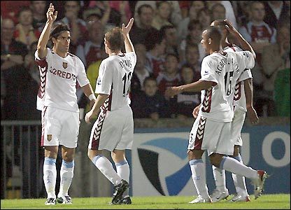 Juan Pablo Angel celebrates