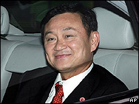El depuesto primer ministro de Tailandia, Thaksin Shinawatra