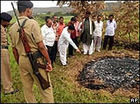 Alleged sati sight in Madhya Pradesh