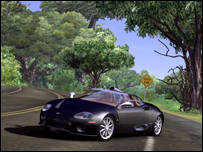 Test Drive takes place on a virtual Hawaii