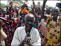 Ugandans displaced by conflict
