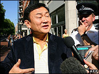 Thaksin Shinawatra in central London