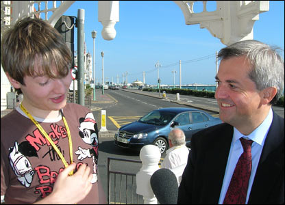 Sam Wheeler with Chris Huhne