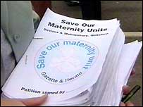 Save our maternity unit petition