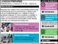 London Prepared website