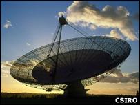 Radiotelescopio en Australia