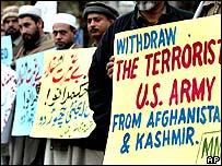 Manifestaciones anti-estadounidenses en Pakistán.