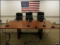 Oficina en centro de detención de Guantánamo.