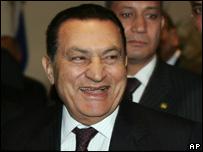 الرئيس المصري حسنى مبارك