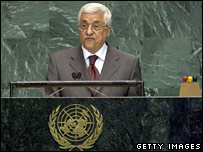 Palestinian Authority President Mahmoud Abbas at the UN