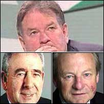 Dafydd Iwan (top), Dafydd Wigley (left) and Dafydd Elis Thomas
