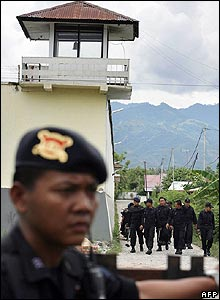 Prison in Palu where the three men were inmates